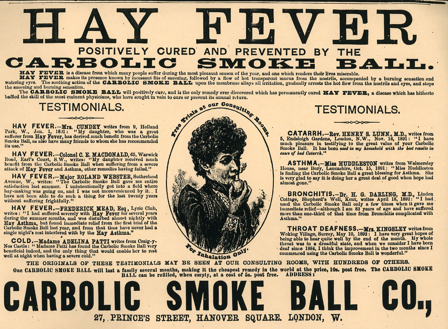 carlill v carbolic smoke ball 1893 A unilateral offer is deemed to be accepted as soon as the offeree has performed a specific act which was asked in the initial offer.